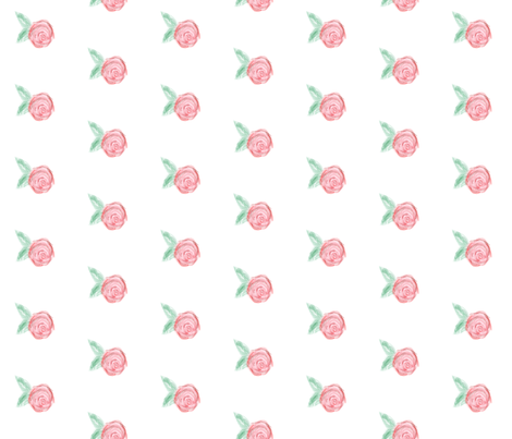 Watercolor Rose fabric by evirose_designs on Spoonflower - custom fabric