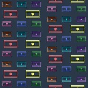 Rainbow Israeli Flag-Navy