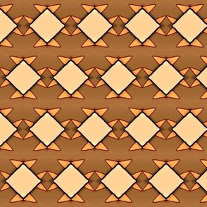 Fall for Cats - Brown diamond pattern