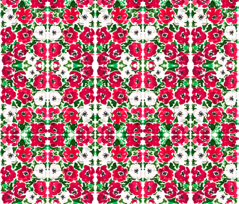 Red_Christmas_Poppy_sm fabric by mckeank on Spoonflower - custom fabric