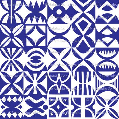 Hydraulic floor tiles pattern