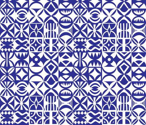 Hydraulic floor tiles pattern fabric by natalia_gonzalez on Spoonflower - custom fabric