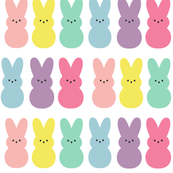 Colorful Peep Bunnies