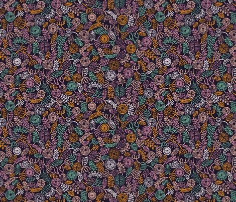 Botanical Block Print fabric by matite on Spoonflower - custom fabric