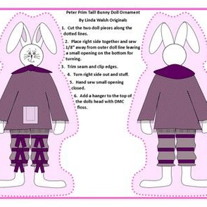 Peter Prim Tail Bunny Cut and Sew Doll