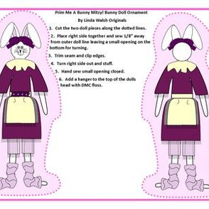 Prim Me A Bunny Mitzy Cut and Sew Dolls