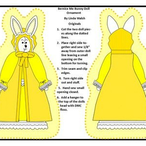 Bernice Me Bunny Cut And Sew Doll