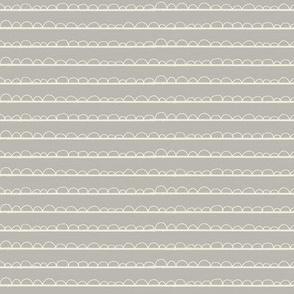 frilly stripe cream/warm grey