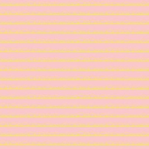 frilly stripe lemon/pink