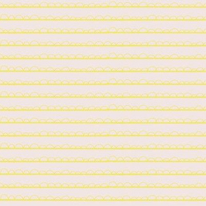 Frilly stripe lemon/blush