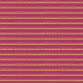 frilly stripe fuschia/yellow