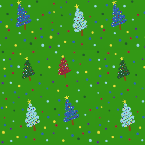 Spray Painted Trees fabric by addie_d on Spoonflower - custom fabric