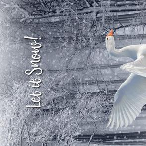 Snow Goose Tea Towel