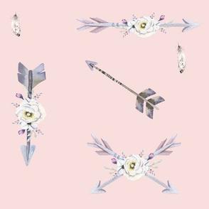 Aztec Arrows on Pink