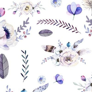 Floral Dream in Purple and Blues