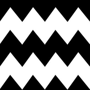 Black and White Chevron Stripe