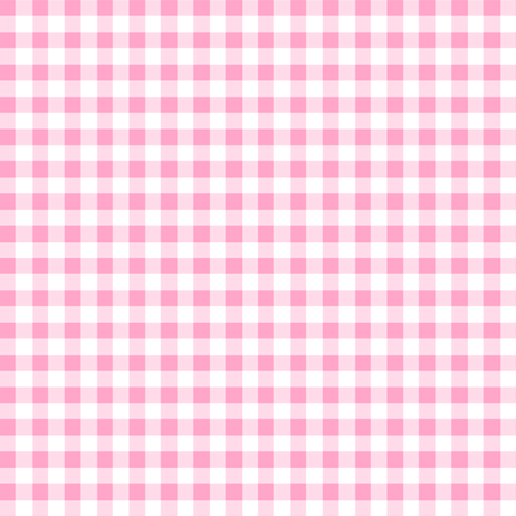 Quarter Inch Carnation Pink and White Gingham Check fabric by mtothefifthpower on Spoonflower - custom fabric