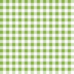 Quarter Inch Greenery Green and White Gingham Check