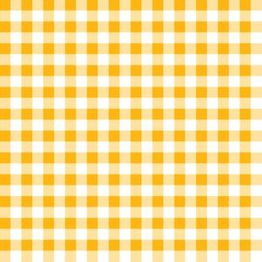 Quarter Inch Yellow Gold and White Gingham Check
