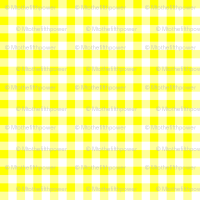 Quarter Inch Yellow and White Gingham Check