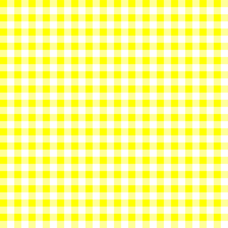 Quarter Inch Yellow and White Gingham Check fabric by mtothefifthpower on Spoonflower - custom fabric
