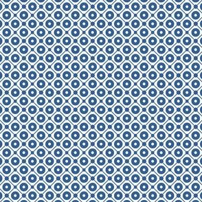 Talavera - Half Inch Blue Grid with Large Dots