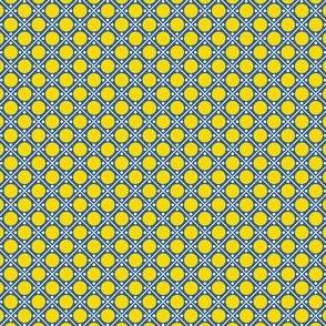 Talavera - Half Inch Blue Grid with Yellow Dots