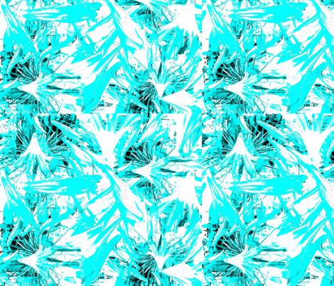 Aqua Tropical on White fabric by coastrockworkshop on Spoonflower - custom fabric