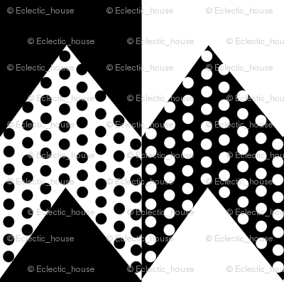 Rblack_and_white_polka_dots_on_black_and_white_chevron_stripes_preview