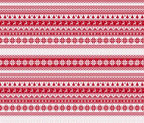 Nordic Christmas small fabric by sssowers on Spoonflower - custom fabric