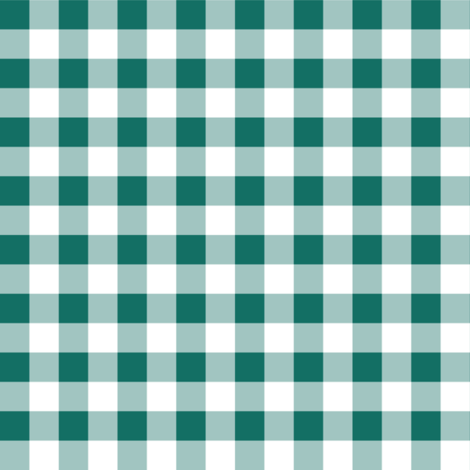 Half Inch Cyan Turquoise Blue and White Gingham Check fabric by mtothefifthpower on Spoonflower - custom fabric