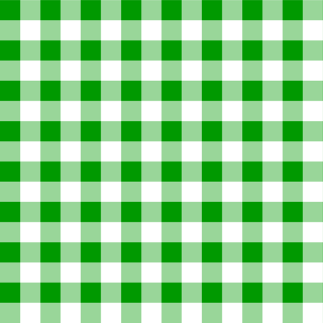 Half Inch Christmas Green and White Gingham Check fabric by mtothefifthpower on Spoonflower - custom fabric