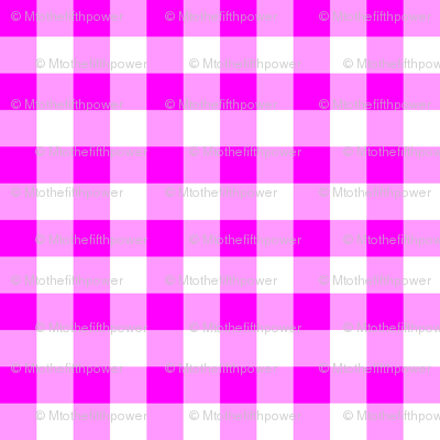 Half Inch Pink and White Gingham Check