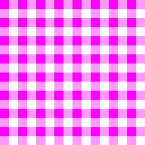 Half Inch Pink and White Gingham Check fabric by mtothefifthpower on Spoonflower - custom fabric