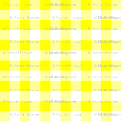 Half Inch Yellow and White Gingham Check