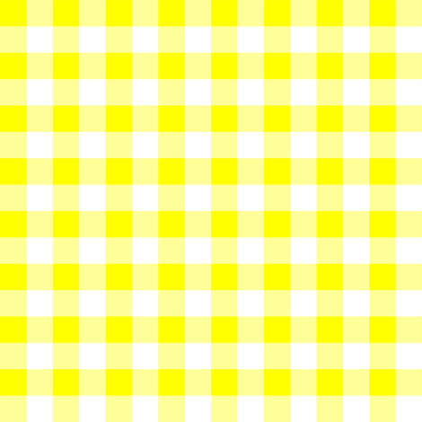 Half Inch Yellow and White Gingham Check fabric by mtothefifthpower on Spoonflower - custom fabric