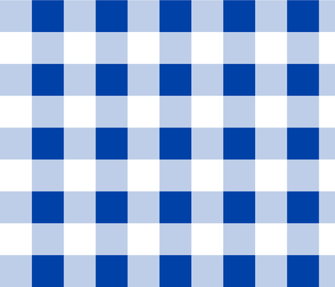 Classic Gingham ~ Hillary Blue and White fabric by peacoquettedesigns on Spoonflower - custom fabric