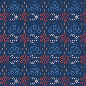 lines_and_dots on dark blue