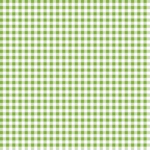 Eighth Inch Greenery Green and White Gingham Check