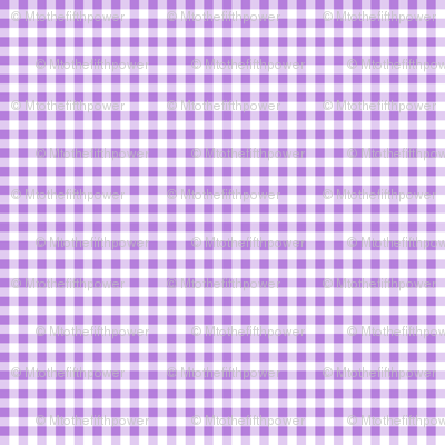 Eighth Inch Lavender Purple and White Gingham Check