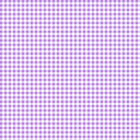 Eighth Inch Lavender Purple and White Gingham Check fabric by mtothefifthpower on Spoonflower - custom fabric
