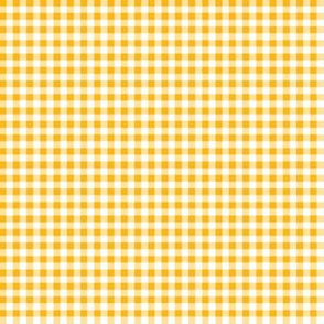 Eighth Inch Yellow Gold and White Gingham Check
