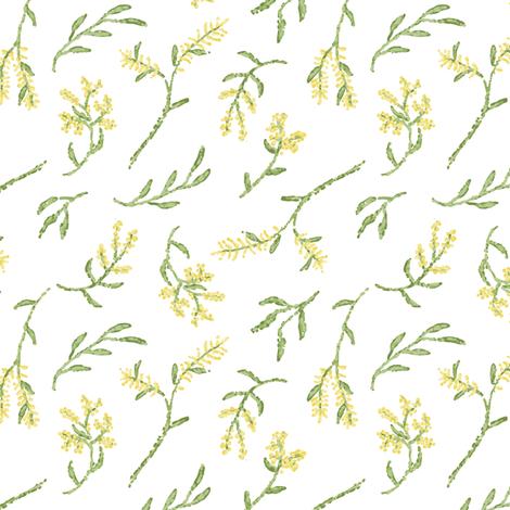 Pointillism Wattle (smaller scale) fabric by janetdrummond on Spoonflower - custom fabric