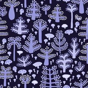 Purple Trees on dark