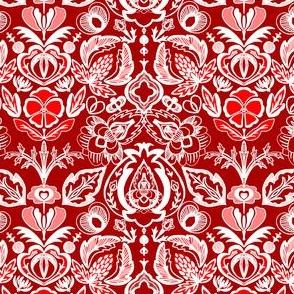 Arts and Crafts Bohemian Red