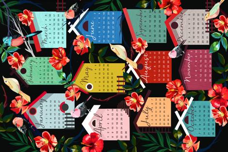 bird_calendar fabric by holaholga on Spoonflower - custom fabric
