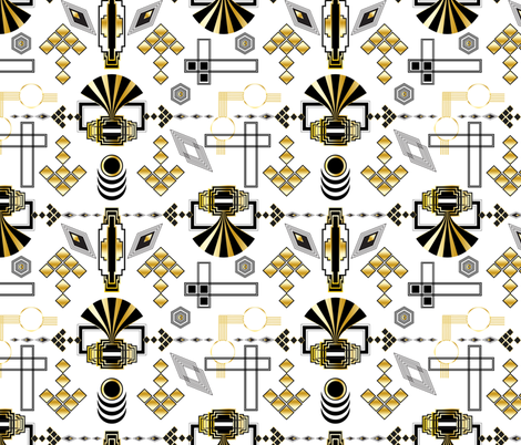 Art Deco Ornaments fabric by vannina on Spoonflower - custom fabric