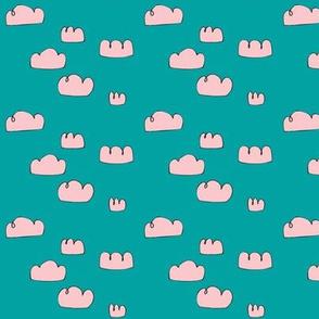 clouds mini aqua sky