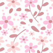 Simplistic Fresh Floral Toss - Berry Pink