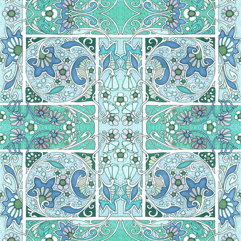 Enchanted Gardens of 1913 fabric by edsel2084 on Spoonflower - custom fabric